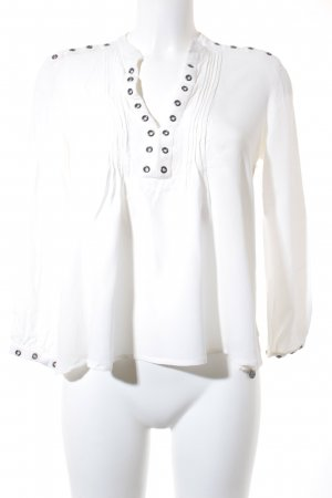 Rich & Royal Langarm-Bluse weiß schlichter Stil