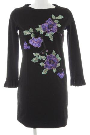 Rich & Royal Langarmkleid Blumenmuster extravaganter Stil