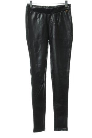 Rich & Royal Lederhose schwarz Casual-Look