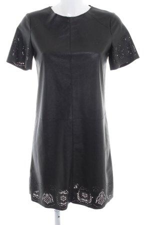 Rich & Royal Lederkleid schwarz Elegant