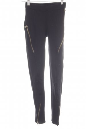 Rich & Royal Leggings schwarz Reiter-Look