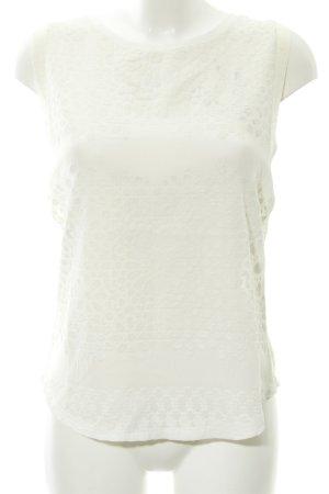 Rich & Royal Blouse en lin beige clair-blanc Mélange de motifs