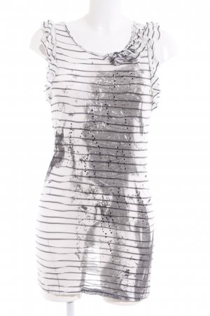 Rich & Royal Longshirt weiß-dunkelgrau Motivdruck Casual-Look