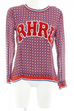 Rich & Royal Longsleeve Allover-Druck College-Look