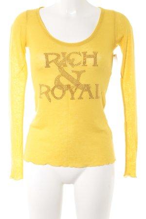 Rich & Royal Longsleeve gelb-goldfarben Casual-Look
