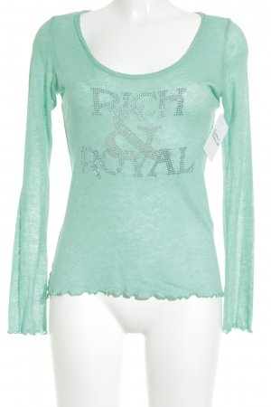 Rich & Royal Longsleeve mint-silberfarben Street-Fashion-Look