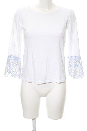 Rich & Royal Longsleeve weiß-kornblumenblau Streifenmuster