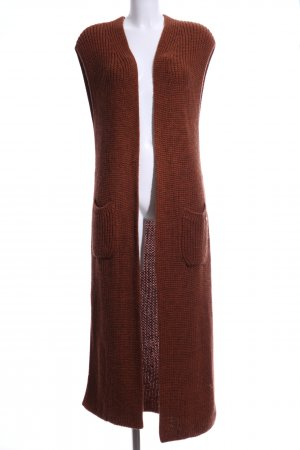 Rich & Royal Long Knitted Vest brown casual look