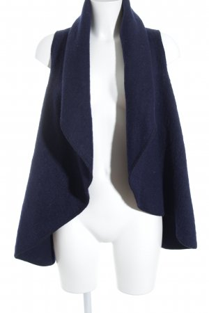 Rich & Royal Longstrickweste dunkelblau Casual-Look