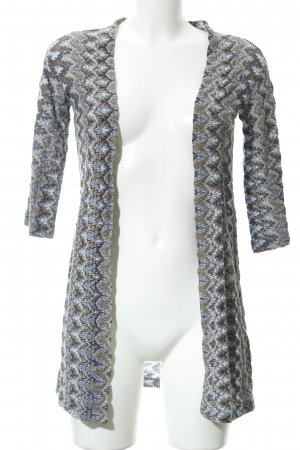 Rich & Royal Long Knitted Vest floral pattern extravagant style