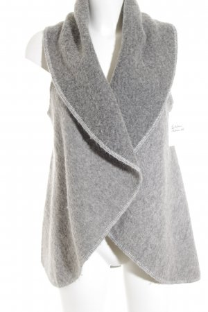 Rich & Royal Long Knitted Vest light grey-grey flecked casual look