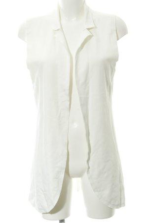 Rich & Royal Gilet long tricoté blanc style décontracté