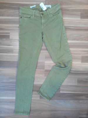 rich &royal oliv denim colored jeans super skinny elasthanstretch luxus erdtöne khaki 34