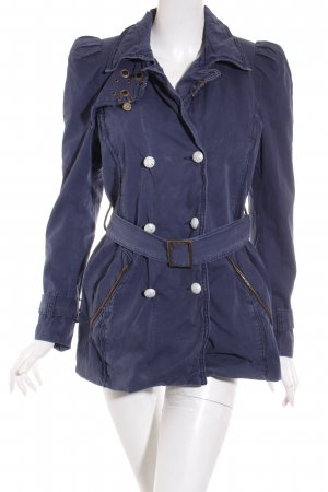 Rich & Royal Parka dunkelblau Casual-Look