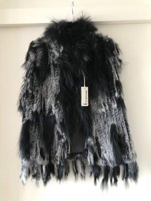 Rich & Royal Smanicato di pelliccia nero-grigio