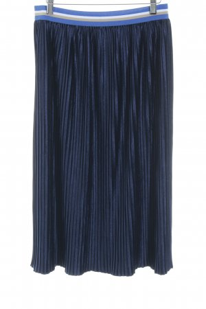 Rich & Royal Pleated Skirt dark blue shimmery