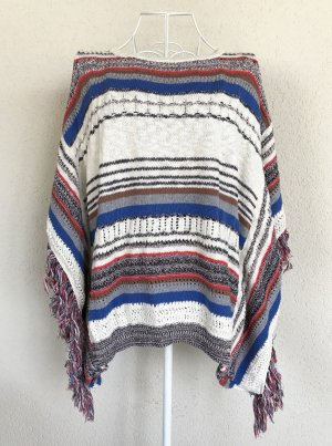 Rich & Royal Knitted Poncho multicolored cotton