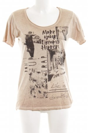 Rich & Royal Print-Shirt nude Allover-Druck Casual-Look