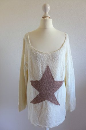 rich & royal Pulli Pullover Oversize Rundhals wollweiß offwhite Gr. L 40/42