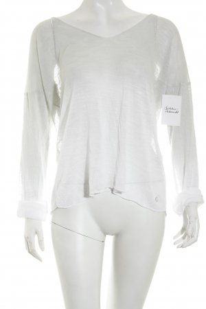 Rich & Royal Pullover weiß-graugrün Farbverlauf Casual-Look