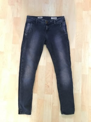 Rich&Royal rich & royal 27 Stretch elasthan ankle dunkel blau Idee waschend out  cropped crop denim Jeans