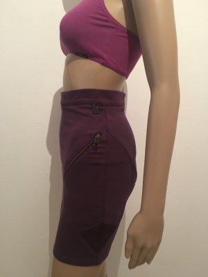 Rich & Royal Falda de tubo violeta oscuro