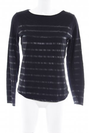 Rich & Royal Gestreept shirt zwart-taupe gestreept patroon casual uitstraling