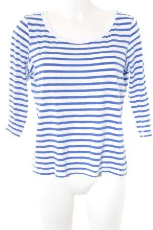 Rich & Royal Maglietta a righe bianco-blu acciaio stile casual