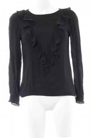 Rich & Royal Rippshirt schwarz Casual-Look