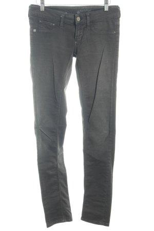 Rich & Royal Pantalón de tubo gris oscuro look casual