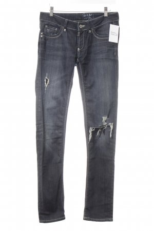 Rich & Royal Tube jeans donkerblauw casual uitstraling