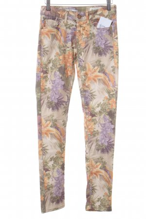Rich & Royal Röhrenjeans florales Muster Casual-Look