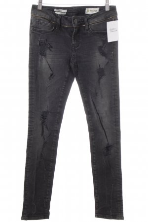 Rich & Royal Röhrenjeans schwarz-weiß Jeans-Optik
