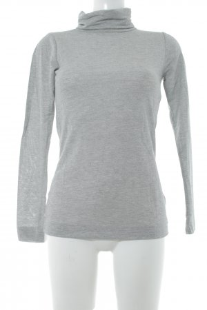 Rich & Royal Turtleneck Sweater silver-colored street-fashion look