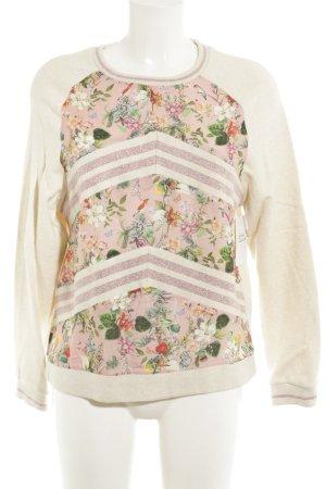 Rich & Royal Rundhalspullover Blumenmuster extravaganter Stil
