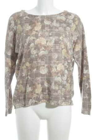 Rich & Royal Rundhalspullover florales Muster Casual-Look