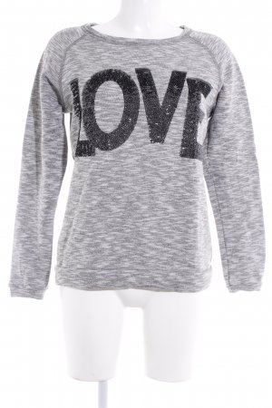 Rich & Royal Rundhalspullover grau meliert Casual-Look