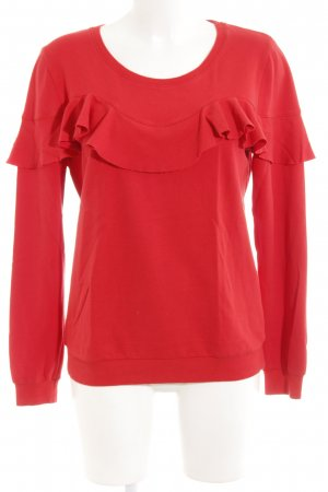 Rich & Royal Rundhalspullover rot Casual-Look