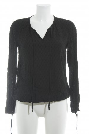Rich & Royal Slip-over Blouse black spot pattern casual look