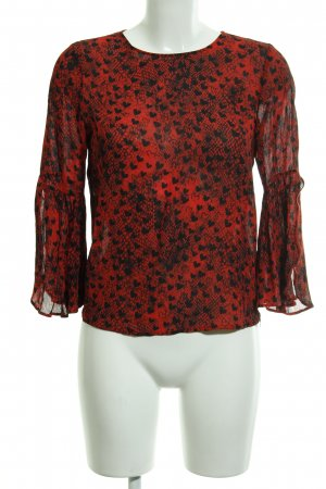 Rich & Royal Schlupf-Bluse schwarz-rot Herzmuster Casual-Look