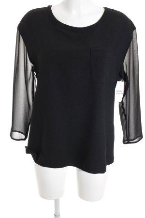 Rich & Royal Schlupf-Bluse schwarz schlichter Stil