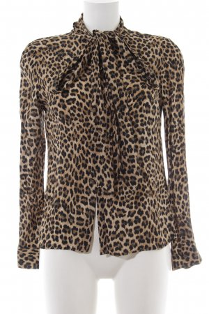 Rich & Royal Stropdasblouse luipaardprint casual uitstraling