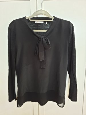 Rich & Royal Tie-neck Blouse black