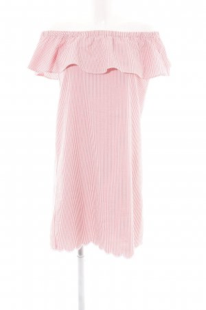 Rich & Royal Off the shoulder jurk wit-rood gestreept patroon casual uitstraling