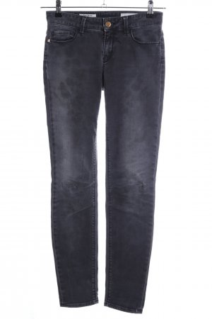 Rich & Royal Skinny Jeans schwarz-hellgrau Casual-Look