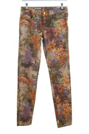 Rich & Royal Skinny Jeans florales Muster extravaganter Stil