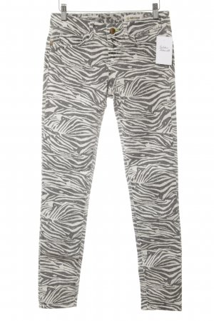 Rich & Royal Skinny Jeans grau-wollweiß Allover-Druck Street-Fashion-Look