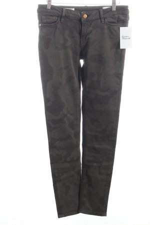 Rich & Royal Skinny Jeans hellbraun-braun Camouflagemuster Casual-Look