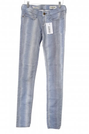 Rich & Royal Skinny Jeans himmelblau Animalmuster Casual-Look