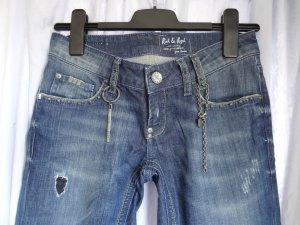 Rich&Royal: Skinny Jeans im used-Stil; W25/L34